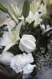 Bouqet bianco Fotografia Stock