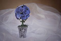 Bouqet of blue roses. Decorative bouqet of blue roses Royalty Free Stock Photo