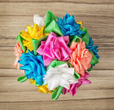Bouqet of colorful decorative bows Stock Image
