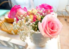 Bouqet of colorful flowers. Details for nice decoration stock photography