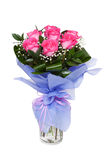 Bouqet das rosas cor-de-rosa isoladas no branco Foto de Stock Royalty Free