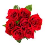 bouqet das rosas vermelhas isolado no branco fotos de stock