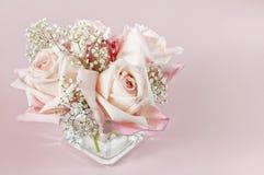 Bouqet der rosafarbenen Schätzchenrosen Stockbild