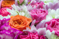 Bouqet flowers. Bouqet pink flowers stock images