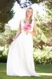 bouqet panny młodej sukni mienie target1300_0_ target1301_1_ Obraz Royalty Free