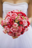 Bouqet. Sample of wedding bouqet with roses royalty free stock image