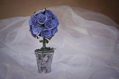 Bouqet van blauwe rozen Royalty-vrije Stock Foto