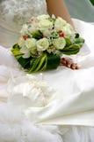 bouqetdetaljbröllop Arkivfoto