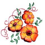 Bouqets цветка с различными цветками с акварелью бесплатная иллюстрация