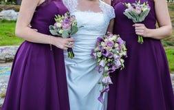 Bouqets pour un mariage Photos stock