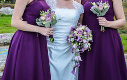 Bouqets voor een huwelijk Stock Foto's