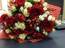 Bouqette of flowers with roses Royalty Free Stock Photos