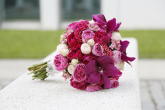 Bouque di nozze del fiore Fotografia Stock Libera da Diritti