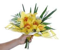 Bouquet à disposition d'isolement sur le fond blanc Photo stock