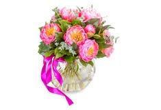 Bouquet étonnant des mésons pi roses d'isolement Image stock