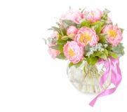 Bouquet étonnant des mésons pi roses d'isolement Images libres de droits