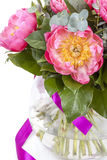 Bouquet étonnant des mésons pi roses d'isolement sur le fond blanc Photo libre de droits