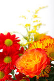 Bouquet. A beautiful bunch of flowers on white background Stock Photos