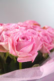 Bouquet. Of pink roses, close-up stock photography