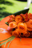 Bouquet. Detail of a beautiful orange wedding bouquet Royalty Free Stock Photography