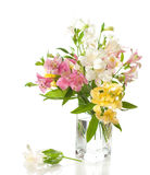 Bouquet of Alstroemeria Stock Photo