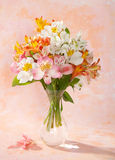 Bouquet of Alstroemeria Stock Image