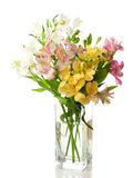 Bouquet of Alstroemeria flower Stock Photo