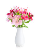 Bouquet of Alstroemeria flowers Royalty Free Stock Photos