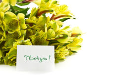 Bouquet of alstroemeria with gratitude Stock Photography