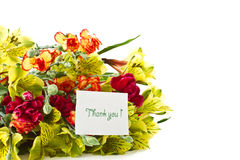 Bouquet of alstroemeria with gratitude Royalty Free Stock Photography