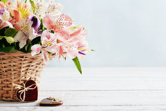 Bouquet of alstroemeria Royalty Free Stock Images