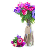 Bouquet  of anemone flowers Stock Image