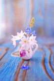 Bouquet of Anemone, windflower in jug Royalty Free Stock Image