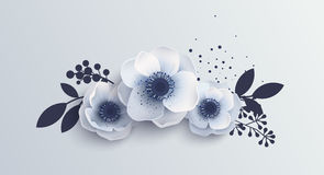 Bouquet Anemones flowers. Royalty Free Stock Photography
