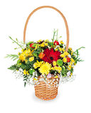 Bouquet arrangement centerpiece in basket Stock Photography