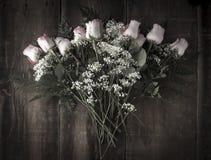 Bouquet Arrangement of Desaturated Roses Stock Image