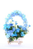 Bouquet of Artificial Flower Colorful, white background Stock Image