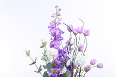 Bouquet of Artificial Flower Colorful, white background Royalty Free Stock Photography