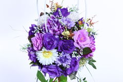 Bouquet of Artificial Flower Colorful, white background Stock Photography