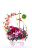 Bouquet of Artificial Flower Colorful, white background Royalty Free Stock Image