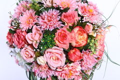 Bouquet of Artificial Flower Colorful, white background Royalty Free Stock Photo