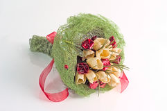 Bouquet of artificial flowers Stock Image