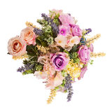 Bouquet from artificial flowers arrangement centerpiece. Royalty Free Stock Photo