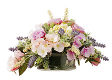 Bouquet from artificial flowers. Royalty Free Stock Photos