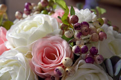 A bouquet of artificial flowers close up decor 5 Royalty Free Stock Images