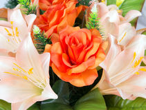 Bouquet of artificial flowers Royalty Free Stock Photo