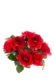 Bouquet of artificial red roses, isolated Royalty Free Stock Photography