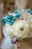 Bouquet of artificial wedding flowers Stock Photography