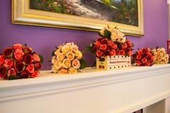 Bouquet artificiel des roses Images stock