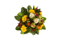 Bouquet with autumn decoration Royalty Free Stock Photos